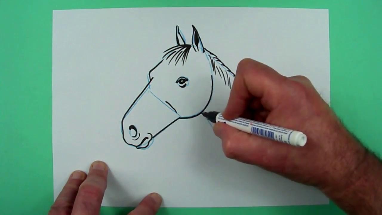 Wie Zeichnet Man Ganz Leicht Einen Pferdekopf? Zeichnen Für Kinder mit Pferdekopf Malen