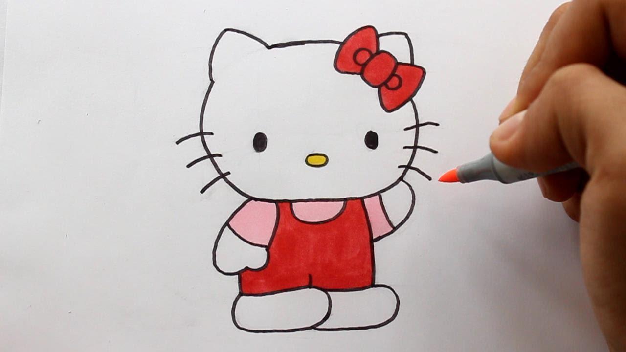 Wie Zeichnet Man Hello Kitty verwandt mit Hello Kitty Zeichnen