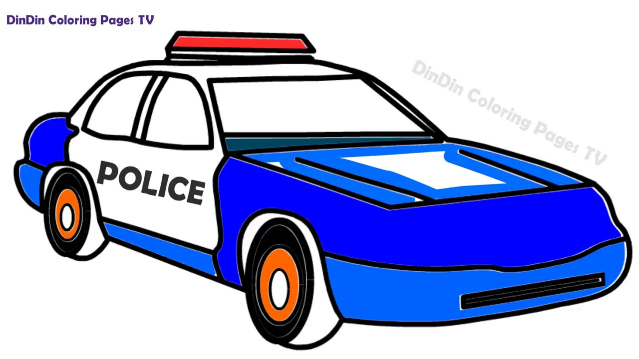 polizeiauto malen  kinderbilderdownload  kinderbilder