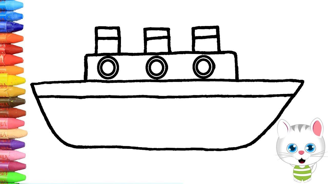 Wie Zeichnet Man Schiff | Zeichnen Und Ausmalen Für Kinder für Wie Zeichnet Man Ein Schiff