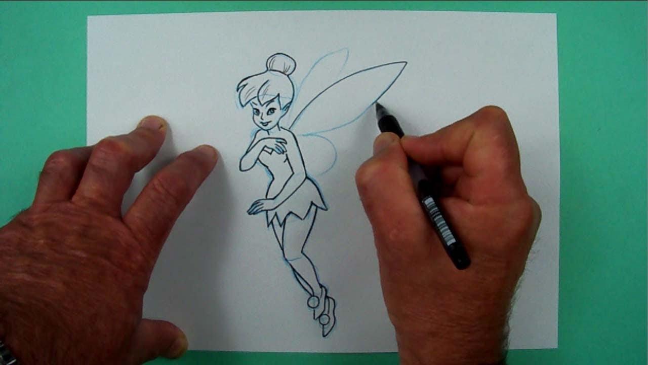 Wie Zeichnet Man Tinker Bell ? Zeichnen Für Kinder für Feen Zeichnen