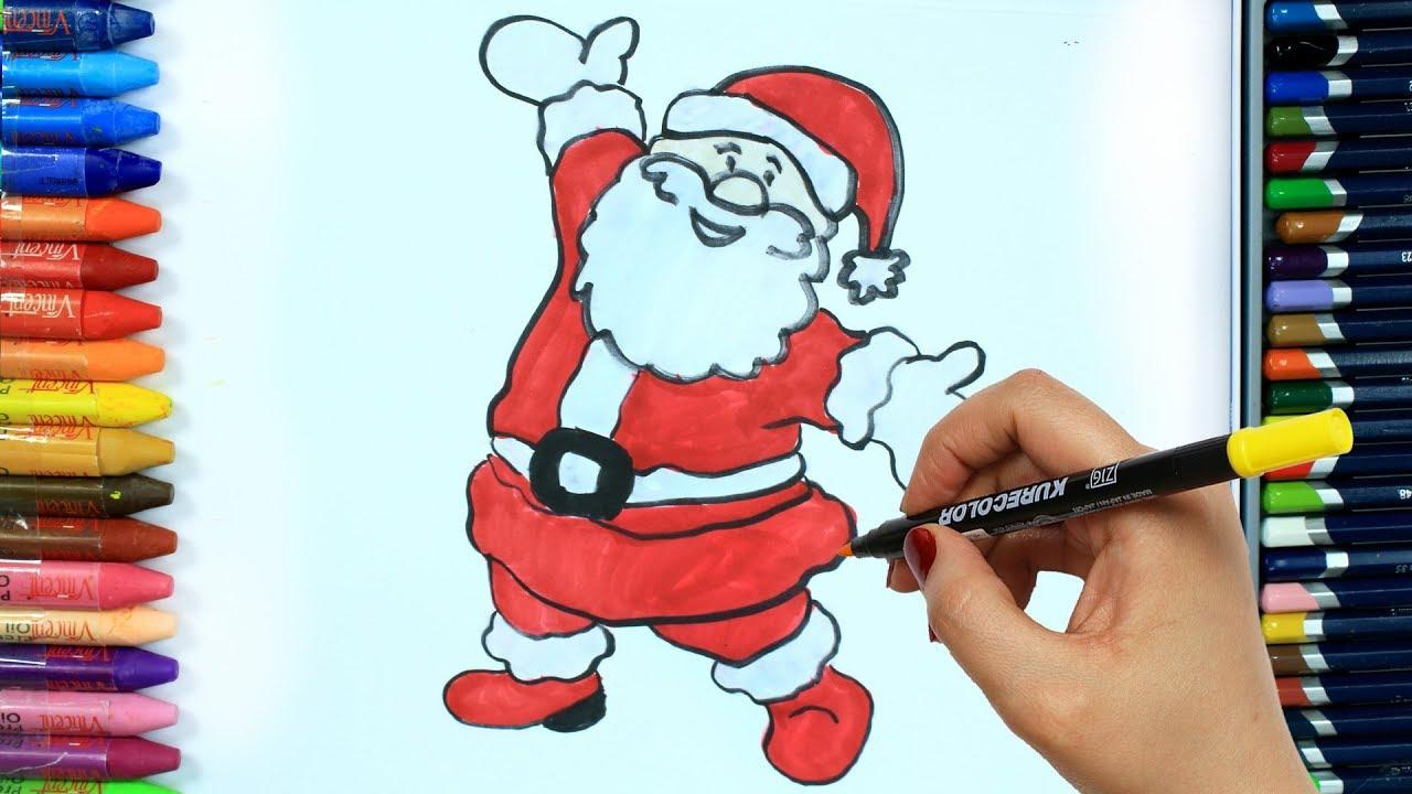 Wie Zeichnet Man Weihnachtsmann 🎅   Ausmalen Kinder Hd   Malen Für Kinder    Zeichnen Und Färben bestimmt für Weihnachtsmann Malen