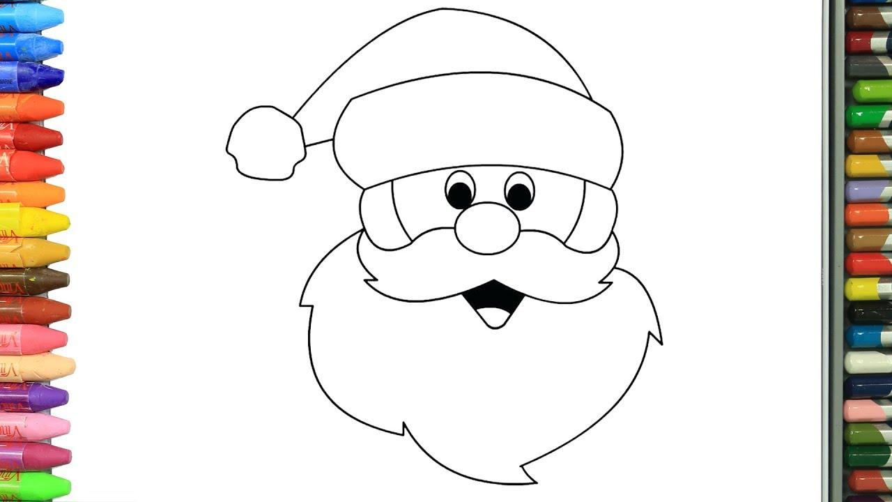Wie Zeichnet Man Weihnachtsmann   Zeichnen Und Ausmalen Für Kinder bei Weihnachtsmann Malen