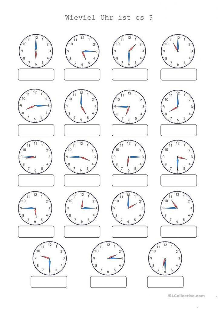 Wieviel Uhr Ist Es - Deutsch Daf Arbeitsblatter über Uhrzeit Arbeitsblätter