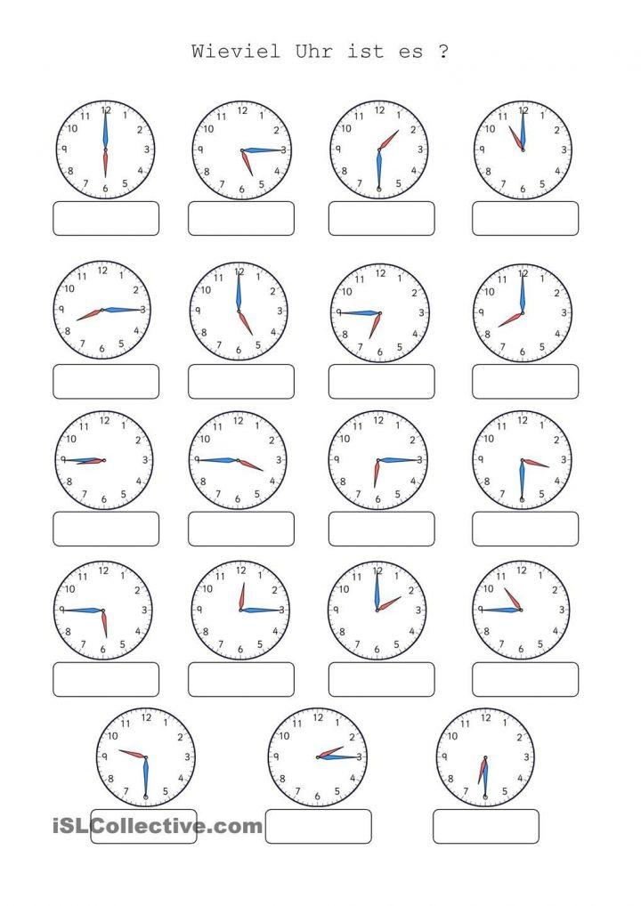 Wieviel Uhr Ist Es (Mit Bildern) | Uhrzeit Lernen, Uhrzeit ganzes Uhr Lernen Arbeitsblätter Kostenlos