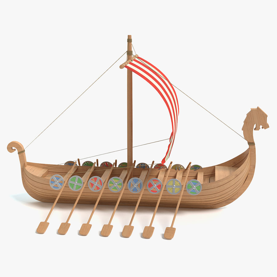 Wikingerschiff 3D-Modell $35 - .max .obj .fbx .dae .blend über Modell Wikingerschiff