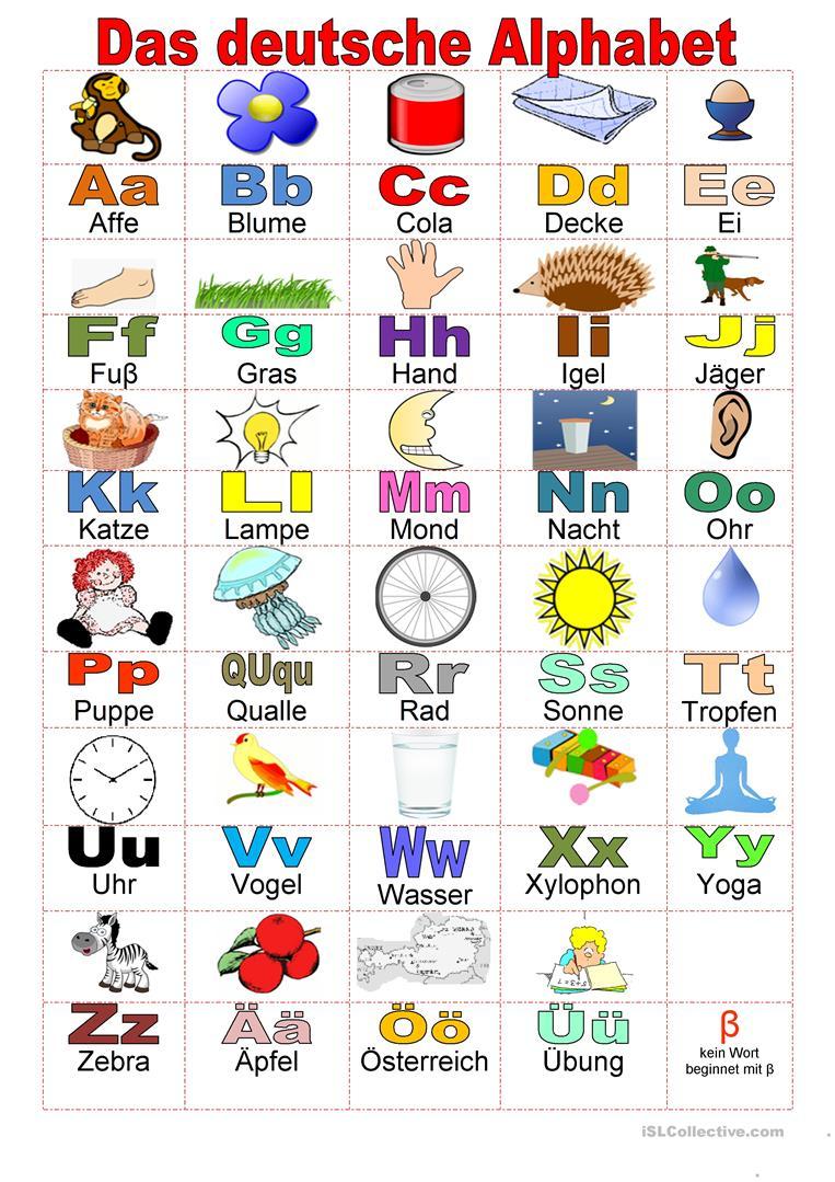 Willkommen Auf Deutsch - Alphabet - Deutsch Daf Arbeitsblatter mit Wie Viele Buchstaben Hat Das Deutsche Alphabet