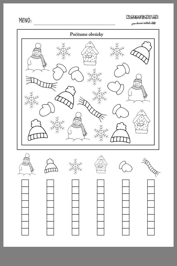 Winter In 2020 (Mit Bildern) | Mathe Für Vorschulkinder in Arbeitsblätter Für Vorschulkinder