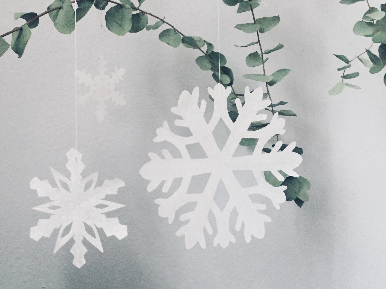 Winterkind // Schneesterne Schneiden // Diy - Lieblingsbande über Schneesterne Schneiden