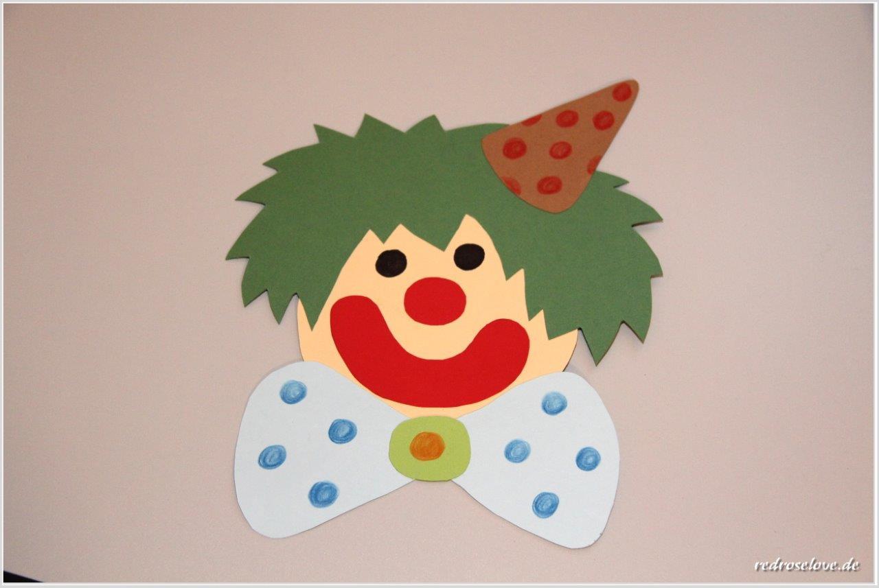 Wir Basteln Für Karneval Clown Fensterbilder über Clown Basteln Vorlage