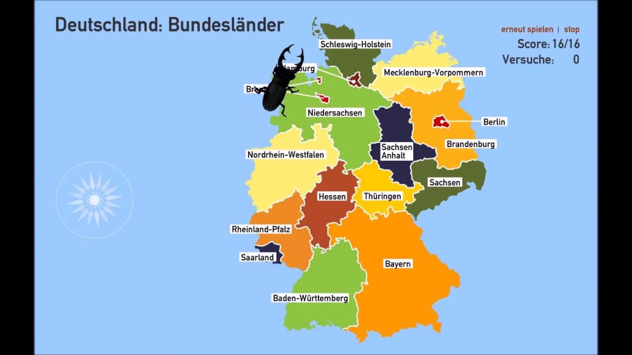 [#wissen] Welche Bundesländer Hat Deutschland? - Geographie - Quiz in Bundesländer Deutschland Mit Hauptstädten Lernen