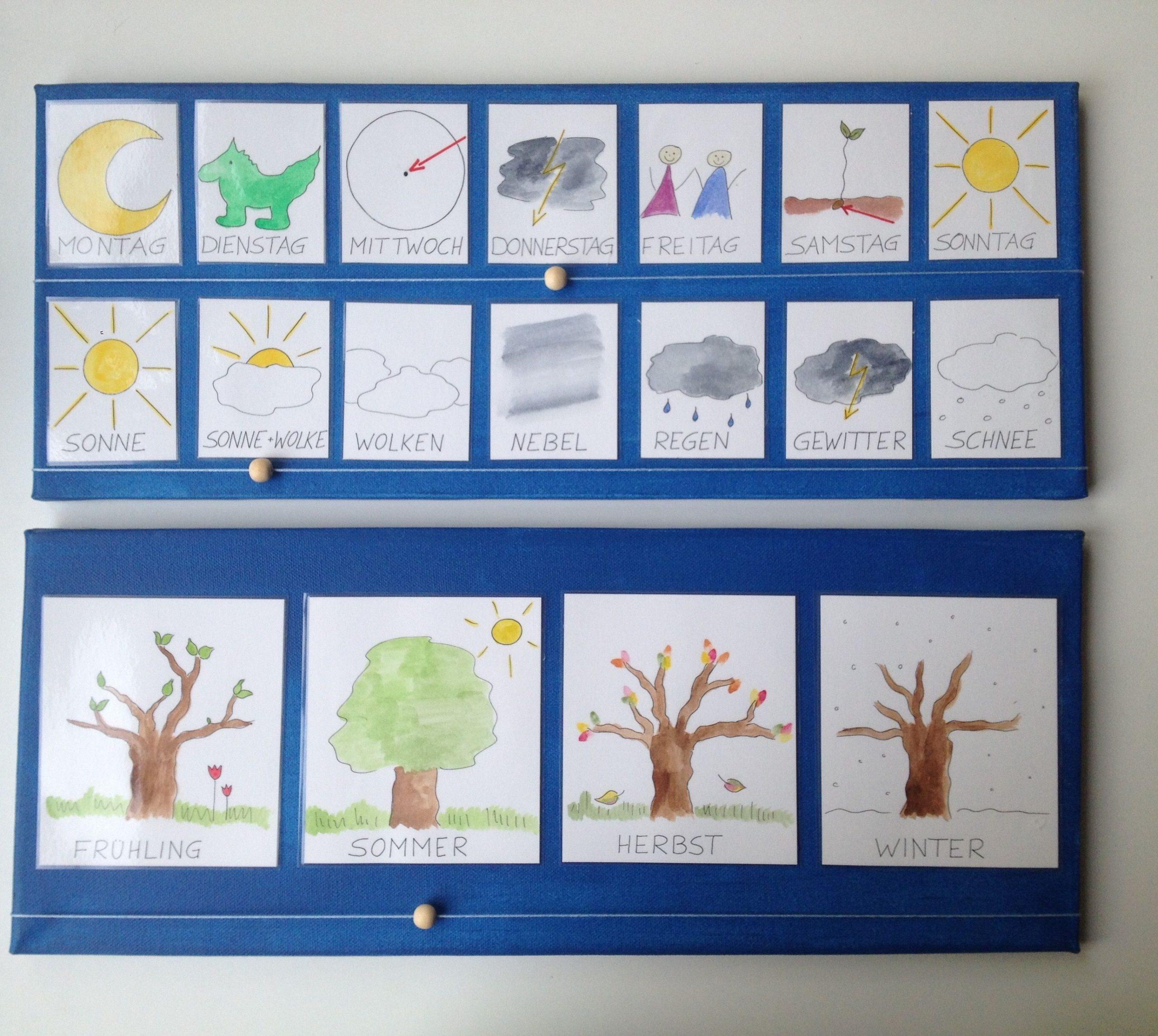 Wochenplan Kindergarten | Kalender Für Kinder, Wochen Planer verwandt mit Kalender Kindergarten