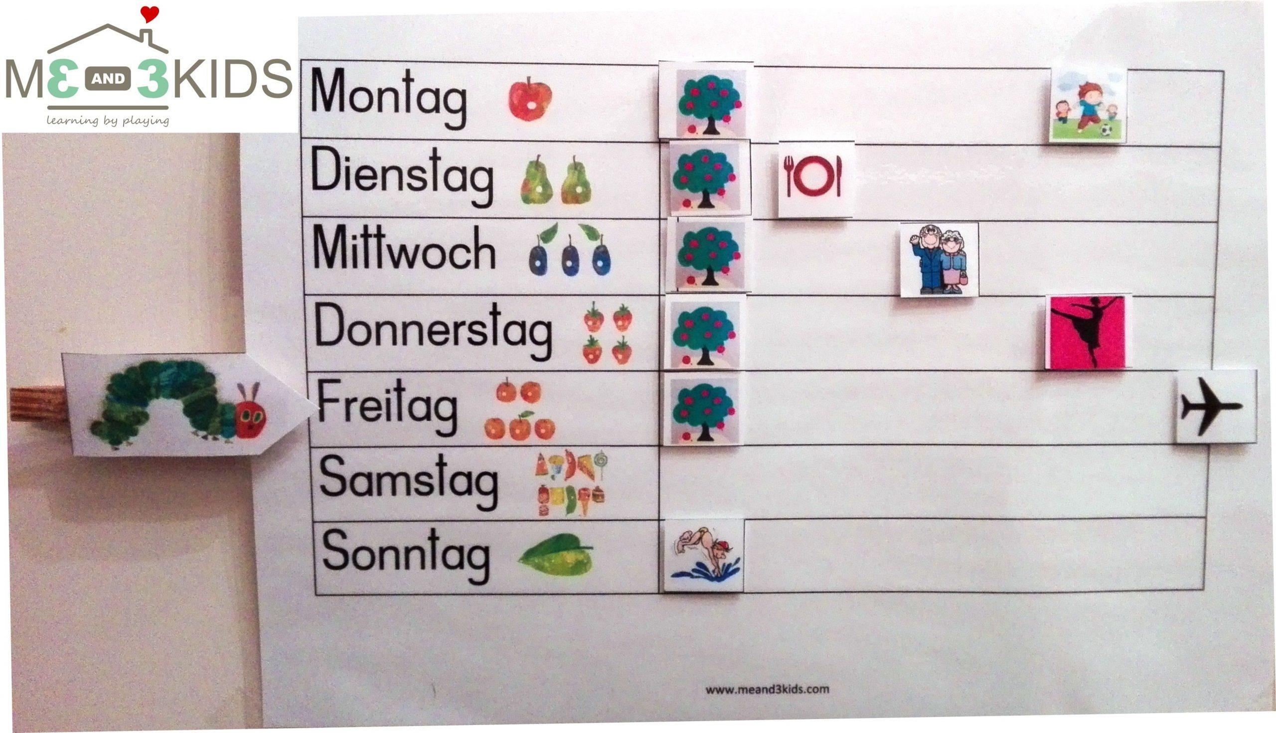 Wochenplaner Für Kinder Zum Download | Wochen Planer in Kalender Kindergarten