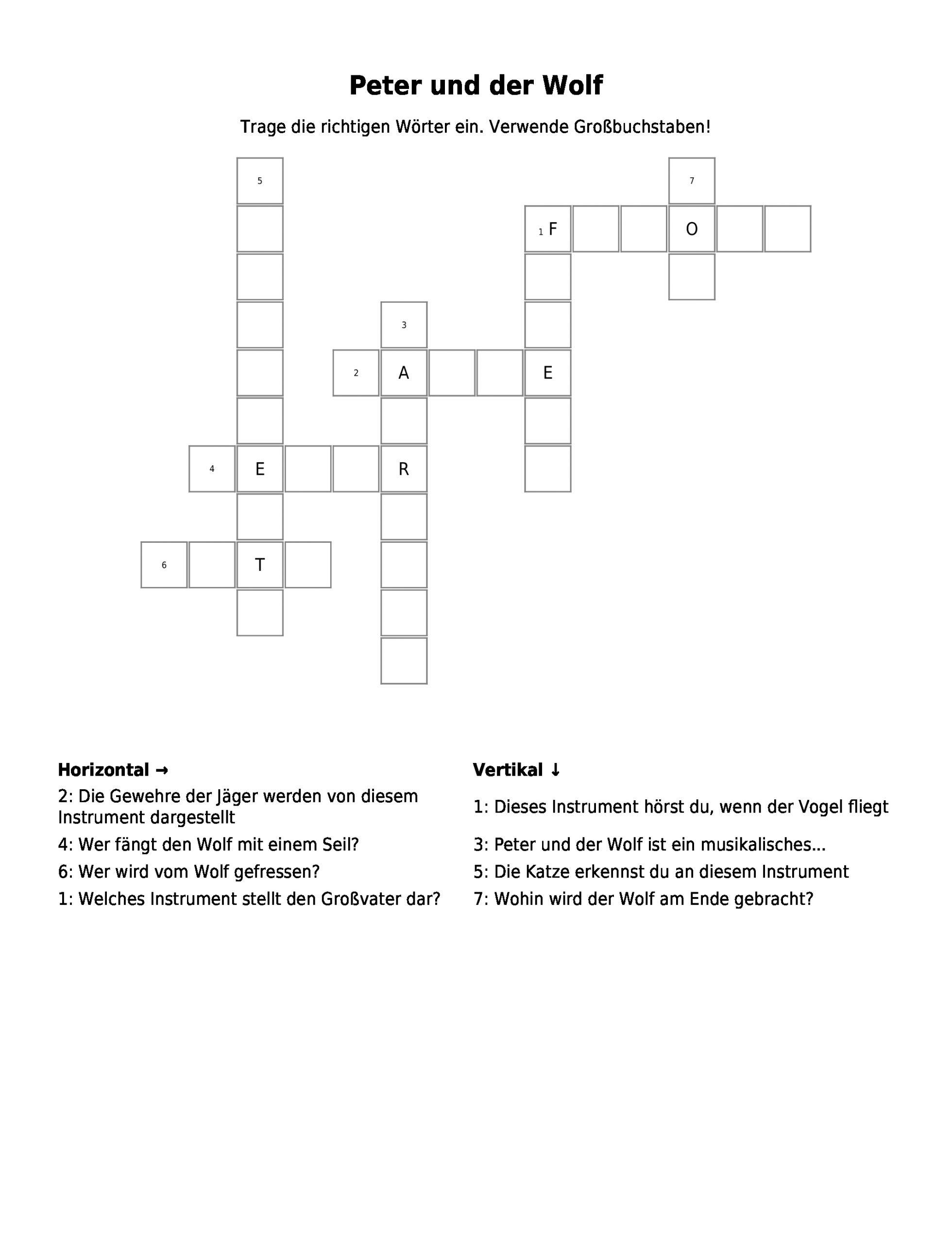 Wölfe – Kreuzworträtsel   Link- Und Materialsammlung Für bei Hunderasse Kreuzworträtsel