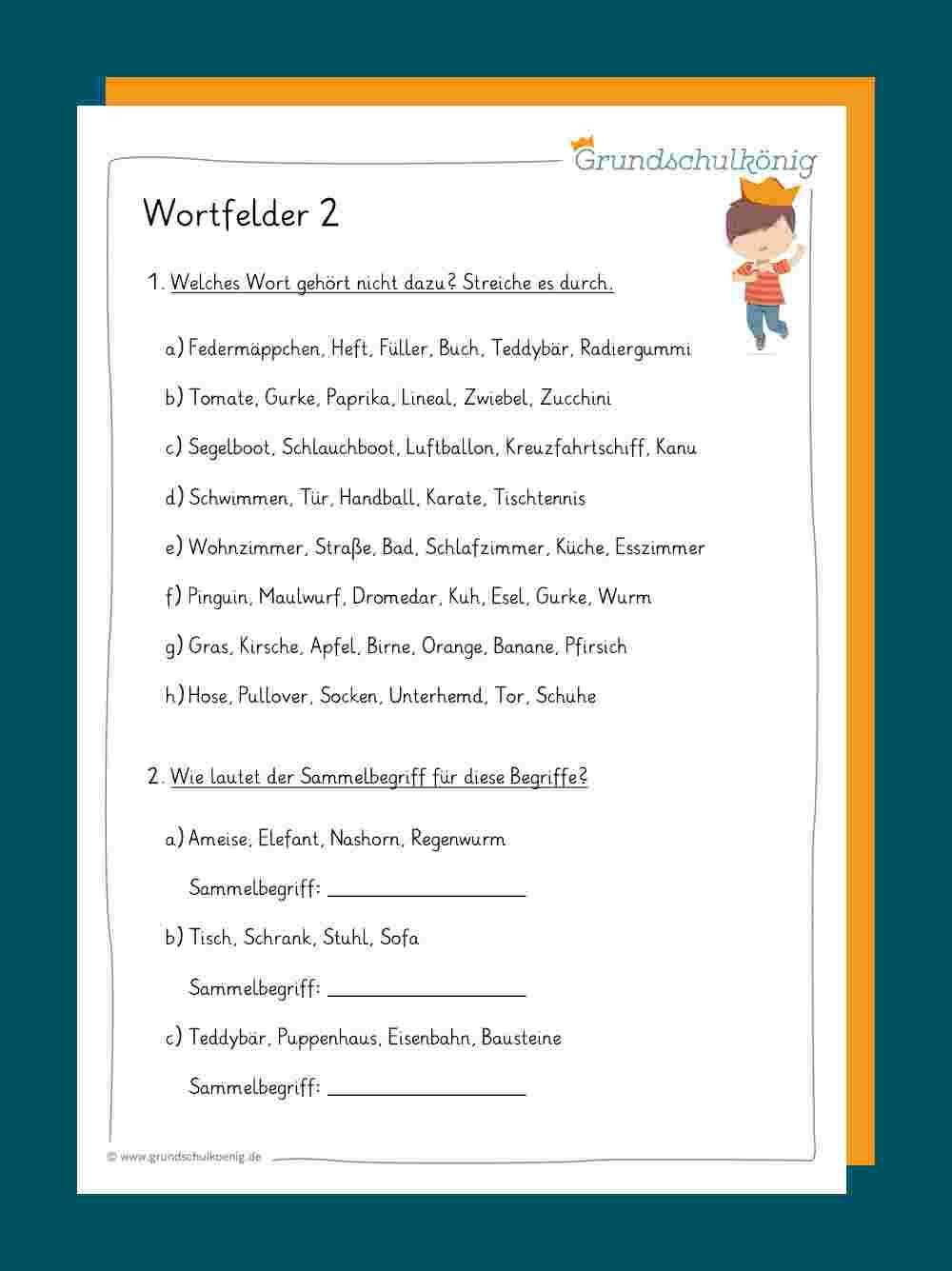 Wortfelder innen Abwechslungsreiche Satzanfänge Arbeitsblatt Zur Übung