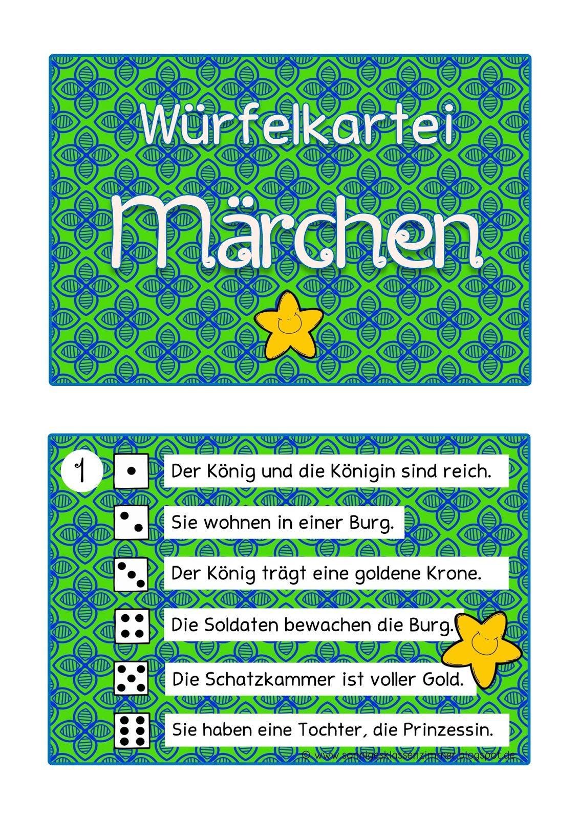 Würfel-Abschreibkartei Märchen Grundschule | Märchen innen Märchenfigur Bei Grimm Kreuzworträtsel