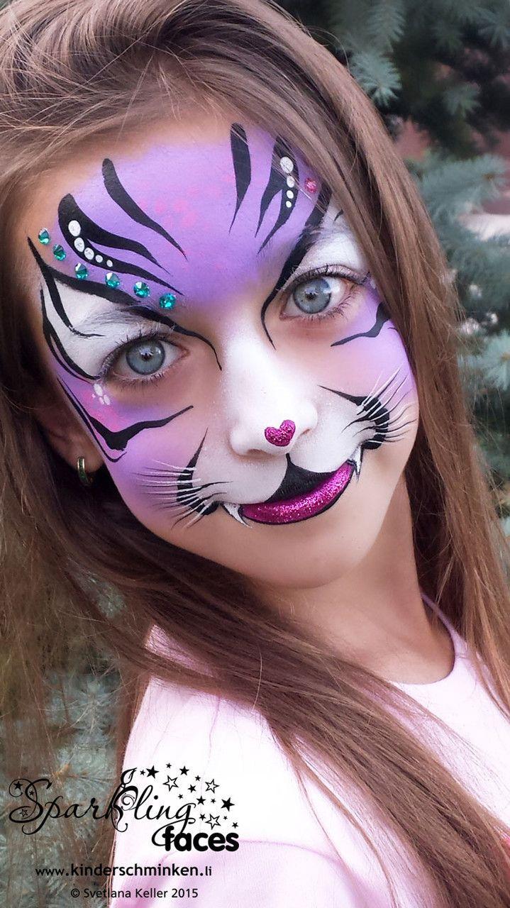 Www.kinderschminken.li, Kinderschminken, Kinderschminken bei Kinderschminken Katze Vorlagen