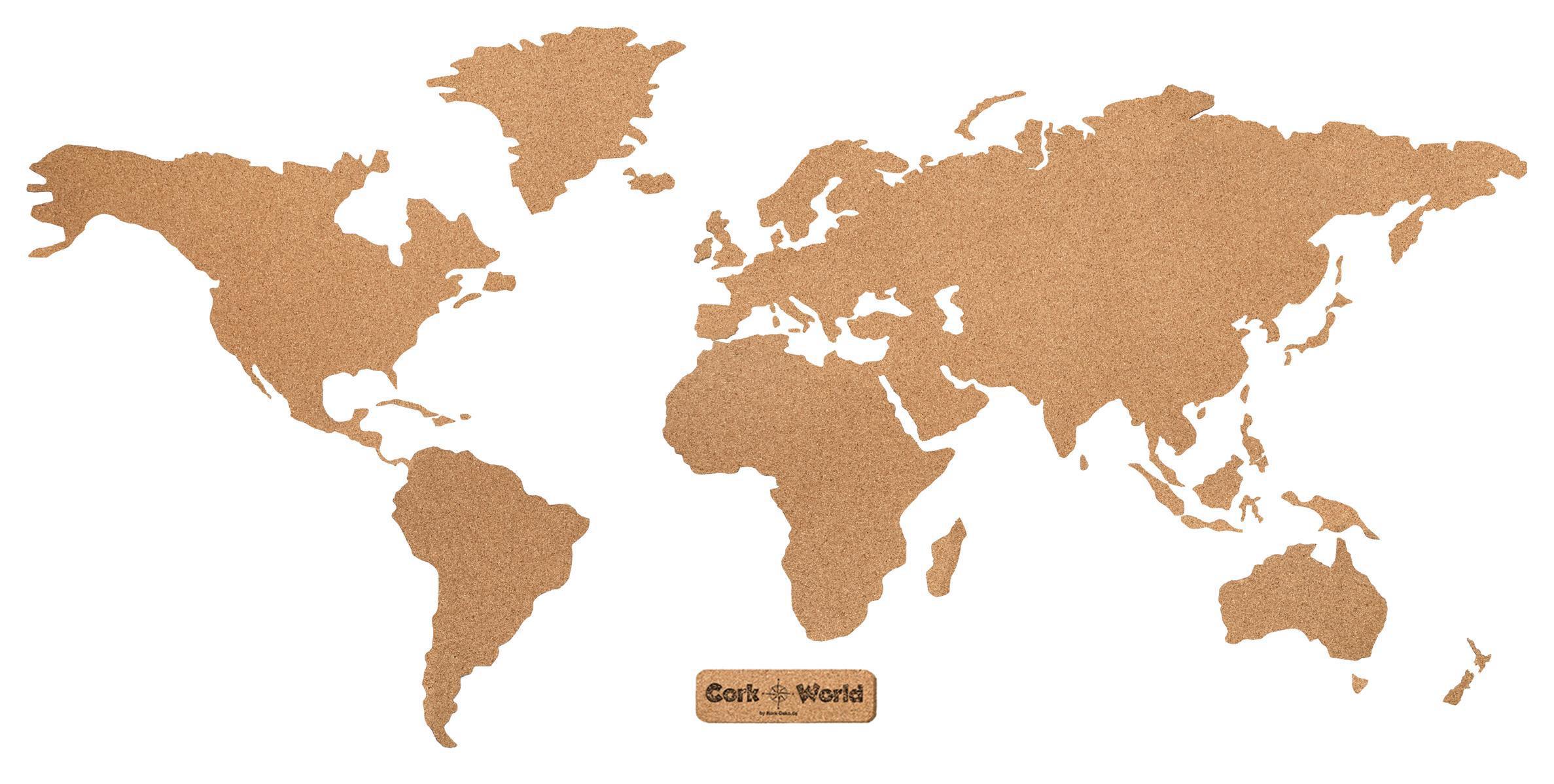 """Xxl-Weltkarte Aus Kork Als Pinnwand: """"Corkworld"""" (210X105 Cm) für Weltkarte Umrisse"""