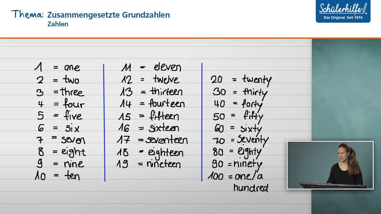 Zahlen // Der Wortschatz // Englisch // Schülerhilfe Lernvideo innen Zahlen Englisch 1 100