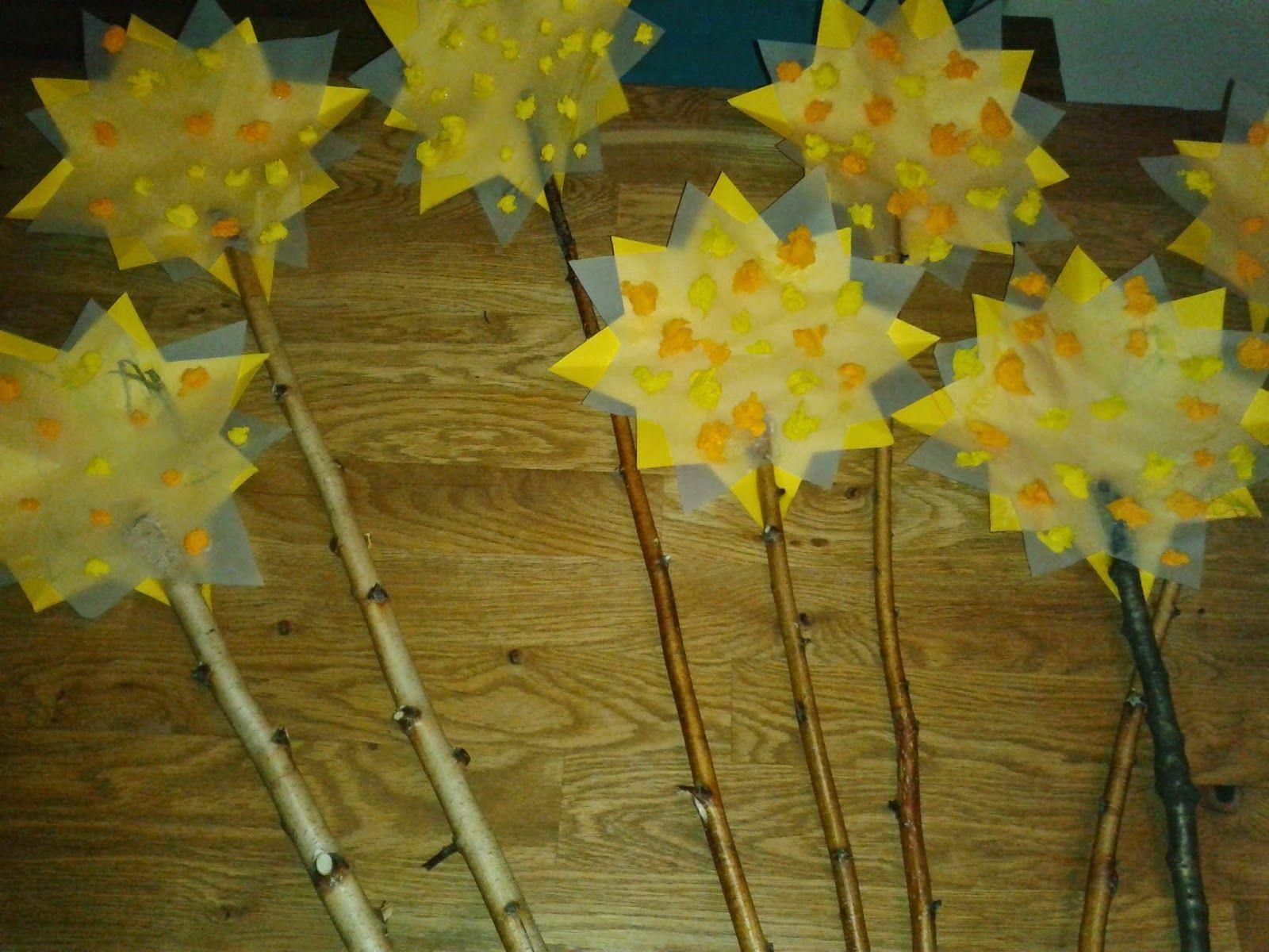 Zauberhafte Basteleien: Sternenstock Stock Mit Stern Für bestimmt für Sterne Basteln Mit Krippenkindern