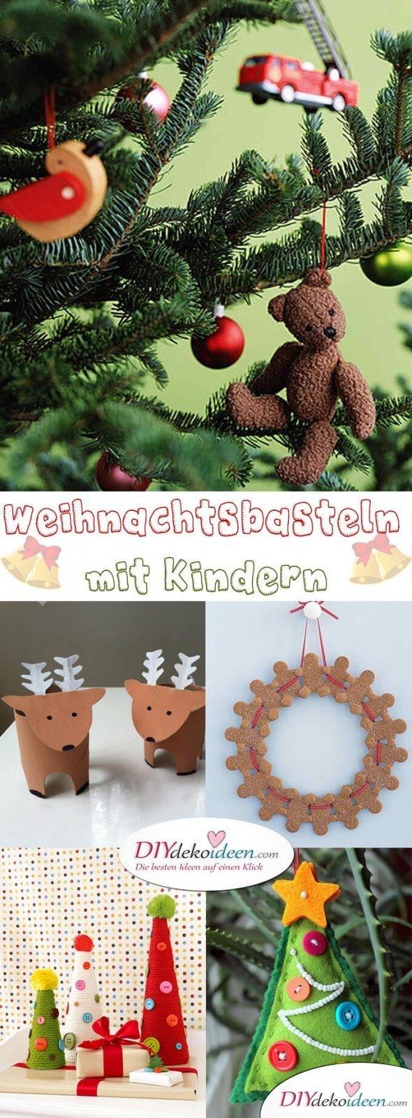 Zauberhafte Ideen Fürs Weihnachtsbasteln Mit Kindern, Die ganzes Weihnachtliche Bastelideen Für Kinder