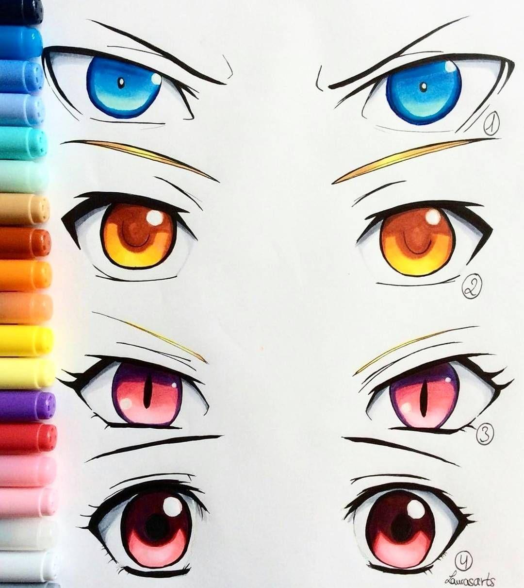 Zeichenvorlage (Mit Bildern) | Manga Augen Zeichnen, Anime ganzes Manga Zeichenvorlagen