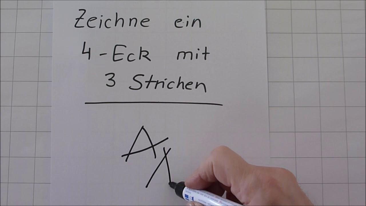 Zeichne Ein Viereck Mit 3 Strichen bestimmt für Bilder Aus Strichen