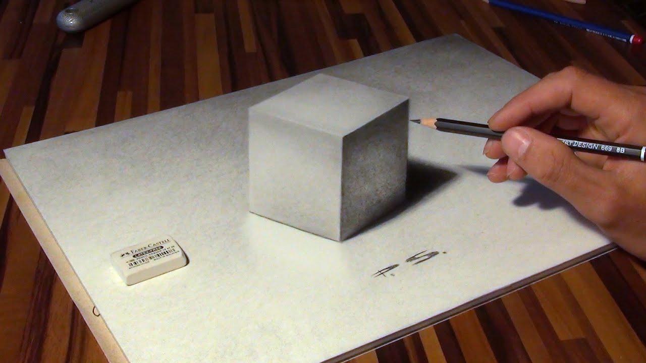 Zeichnen Eines Würfels In 3D! Illusion / Optische Täuschung! über 3D Würfel Zeichnen