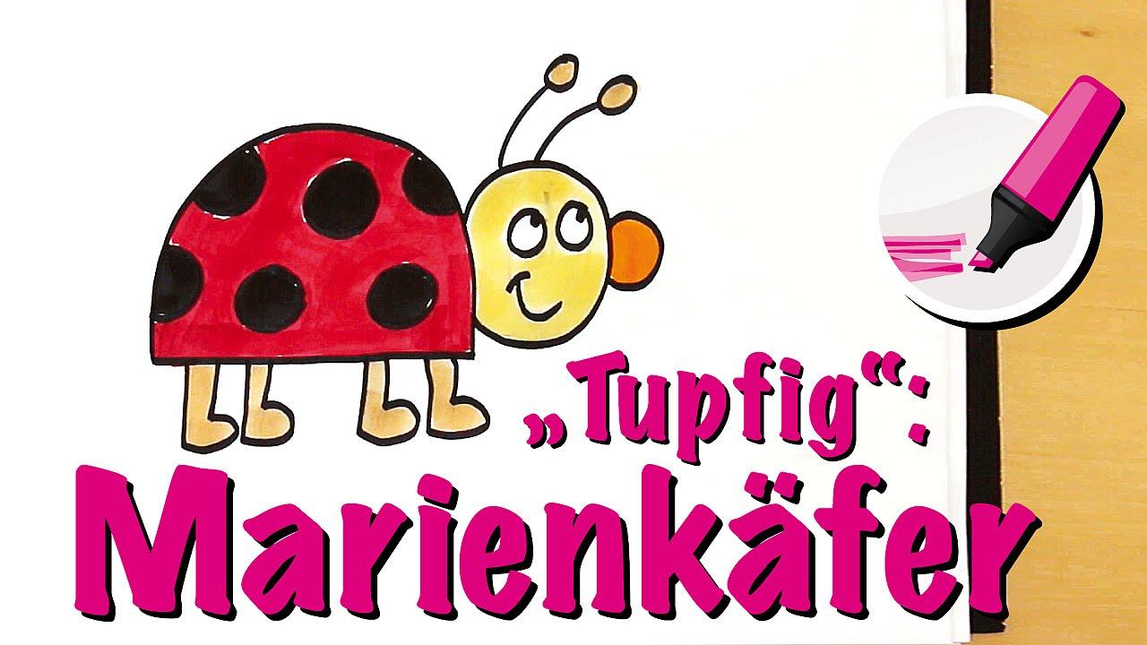 Zeichnen Lernen: Der Glänzende Marienkäfer - How To Draw A Ladybug/ladybird ganzes Marienkäfer Selber Zeichnen
