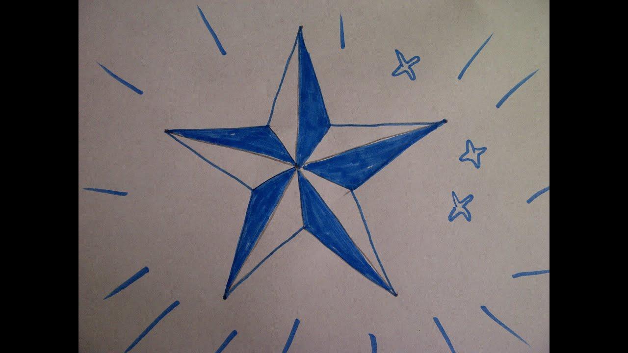 Zeichnen Lernen Für Anfänger. Einen Fünfzackigen Stern Zeichnen. How To  Draw A Five-Pointed Star für Wie Zeichnet Man Einen Stern Mit 5 Spitzen