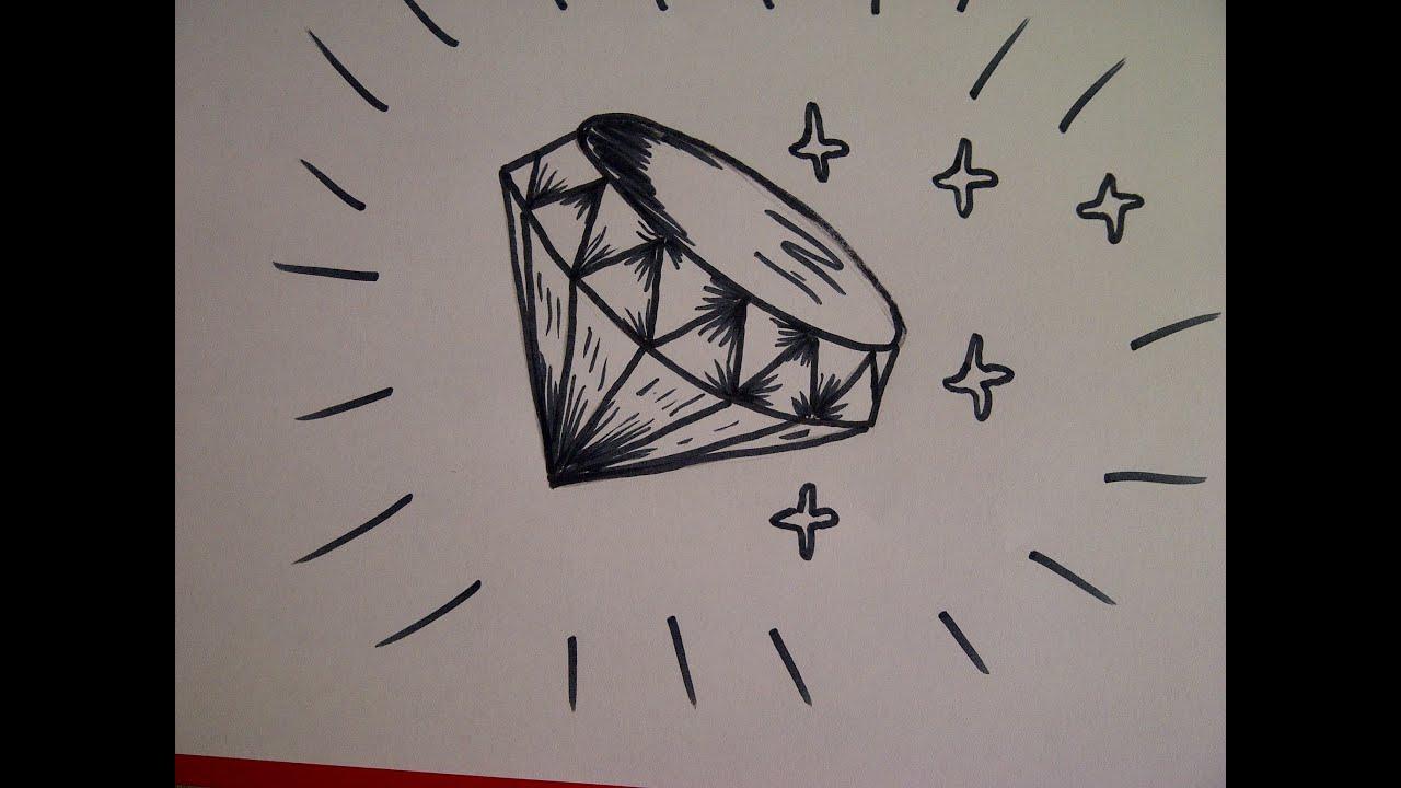 Zeichnen Lernen Für Anfänger. Wie Zeichnet Man Einen Diamanten bestimmt für Wie Kann Ich Zeichnen Lernen