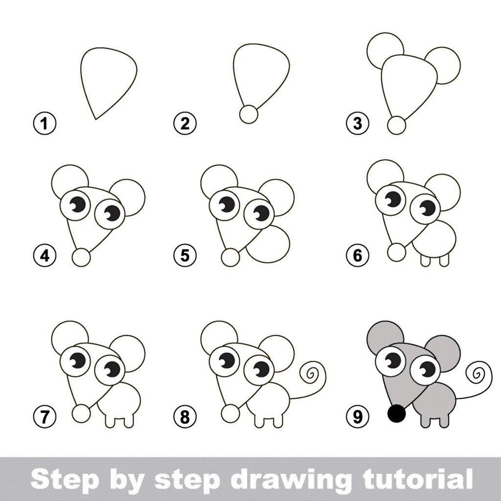 Zeichnen Lernen Für Kinder: Schritt-Für-Schritt-Anleitungen in Kinder Lernen Zeichnen Und Malen