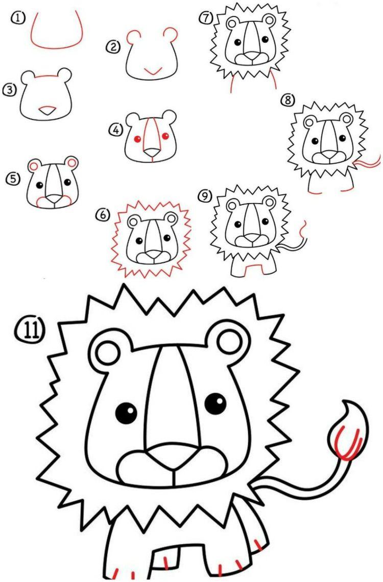 Zeichnen Lernen Mit Anleitungen Für Kinder – Witzige Figuren mit Tiere Einfach Zeichnen