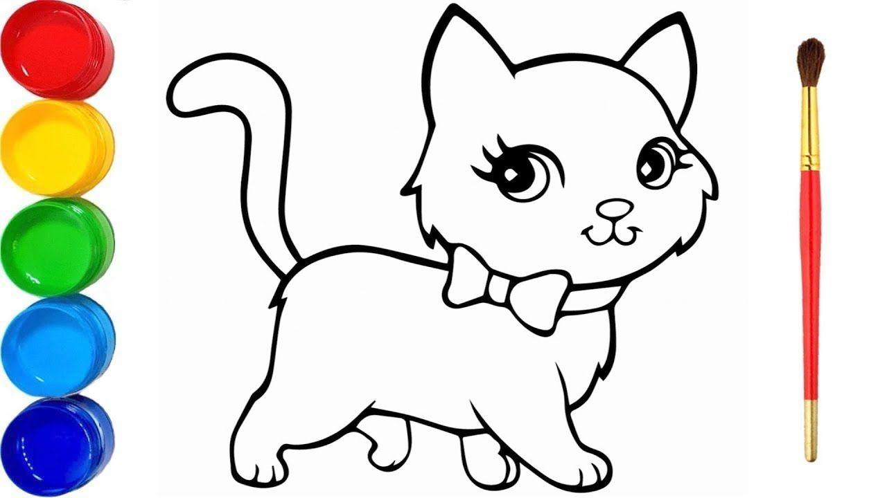 Zeichnen Und Färben Schöne Katze - Katzen Zeichnen - Wir in Süße Bilder Zum Zeichnen