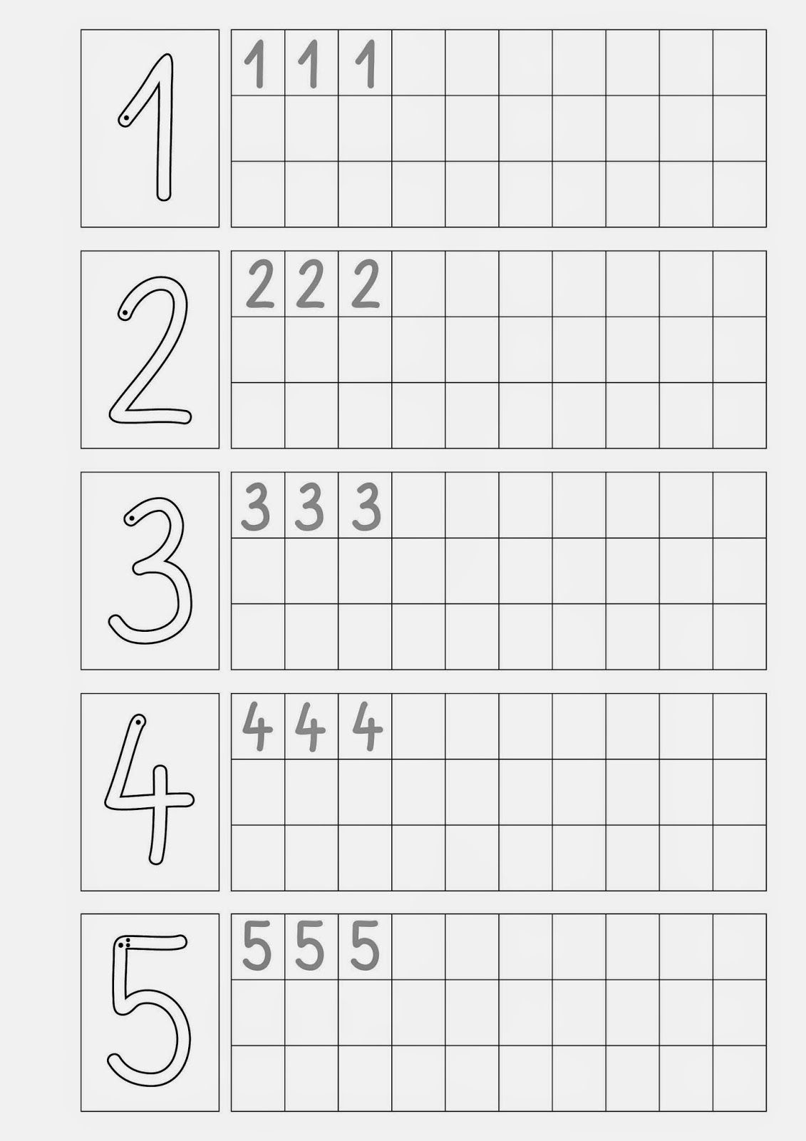 Ziffern Schreiben . (Mit Bildern) | Vorschule, Zahlen bestimmt für Übungen Für Vorschulkinder Zum Ausdrucken