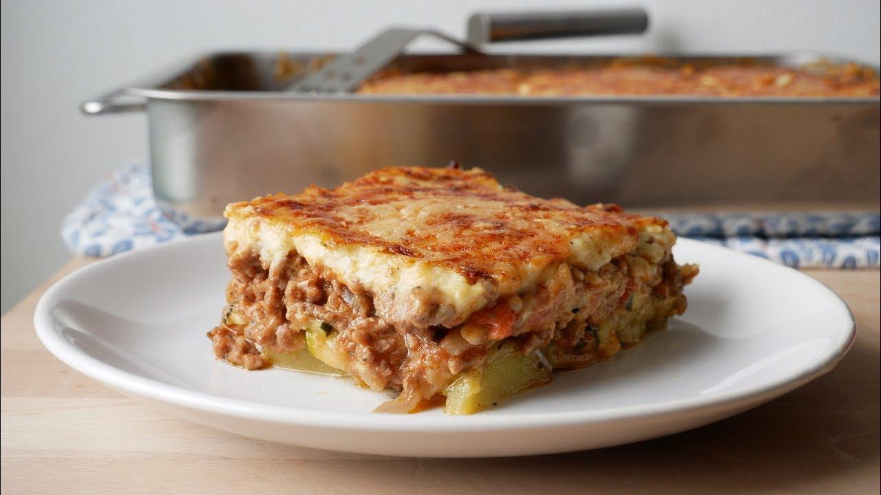 Zucchini Moussaka über Moussaka Rezept Kartoffeln Hackfleisch
