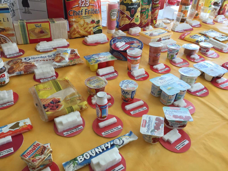 Zuckertisch - Friedrich-Fröbel-Schule - Grund bei Würfelzucker In Lebensmitteln Grundschule