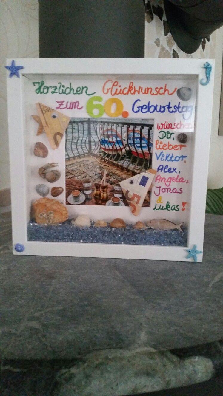 Zum 60. Geburtstag Und Als Reisekasse! Maritim Mit Muscheln für Geldgeschenke Geburtstag 60 Basteln