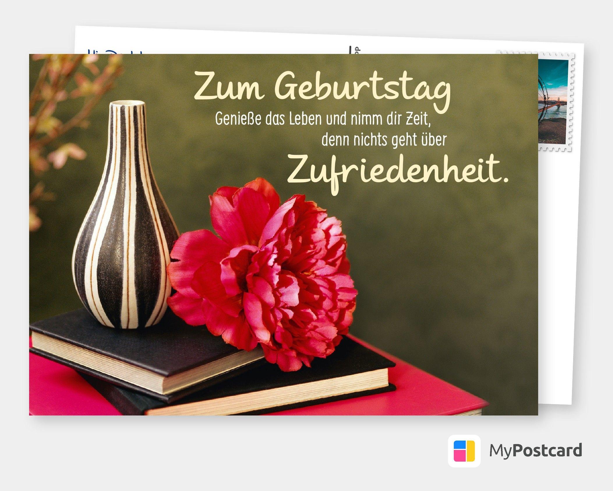 Zum Geburtstag Genieße Das Leben Und Nimm Dir Zeit mit Geburtstagskarte Geburtstag