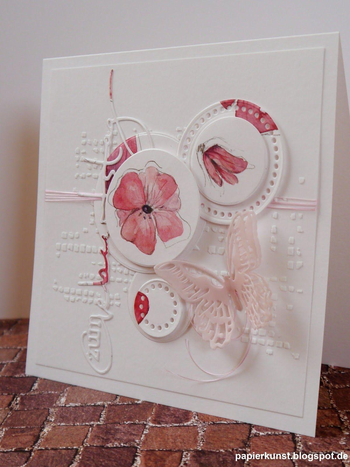 Zum Geburtstag   Karten Basteln, Karten Basteln Blumen, Kreativ in Glückwunschkarten Basteln