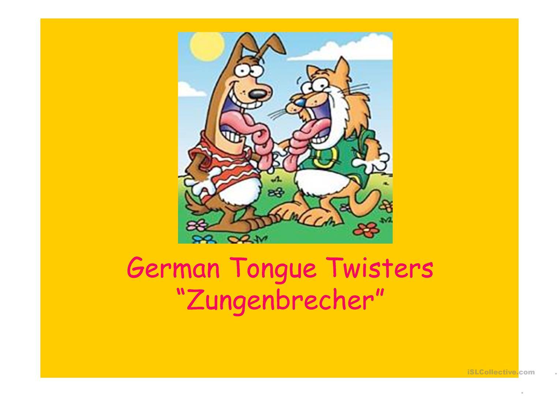 Zungenbrecher - Deutsch Daf Powerpoints in Zungenbrecher Für Grundschulkinder