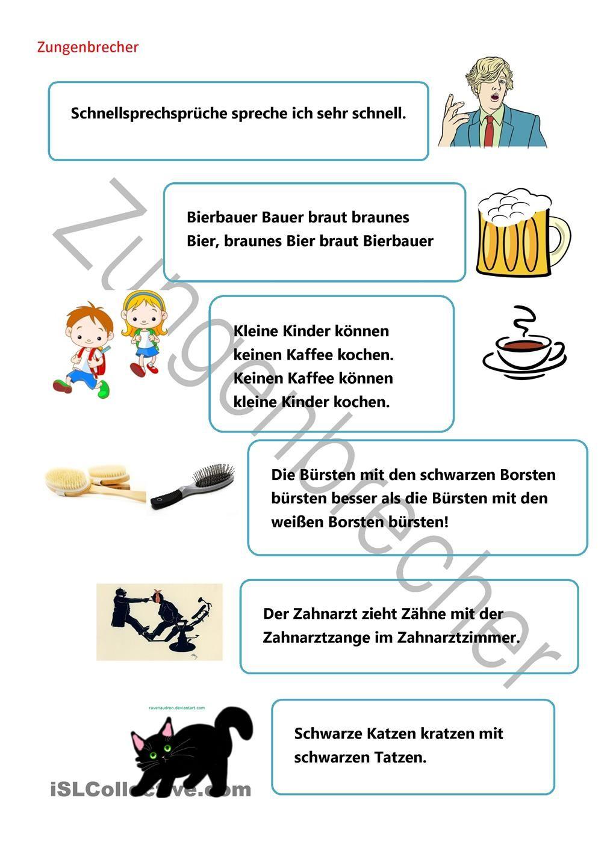 Zungenbrecher | Zungenbrecher, Deutsche Zungenbrecher Und verwandt mit Zungenbrecher Für Grundschulkinder